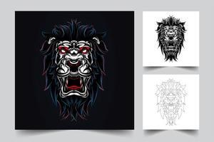 ilustración de arte de león vector