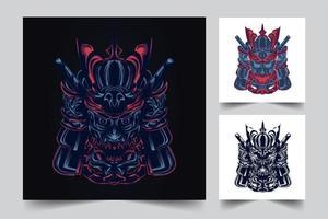 samurai war artwork vector