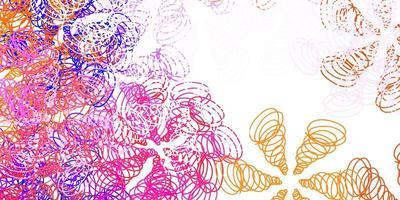 plantilla de vector rosa claro, amarillo con líneas.