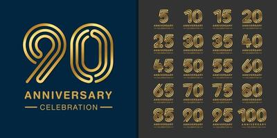 Set of premium anniversary logotype