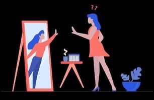 confusión de identidad del concepto de trastorno disociativo vector