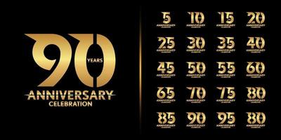 Set of premium anniversary logotype vector