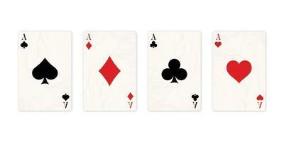 Classic four aces vector
