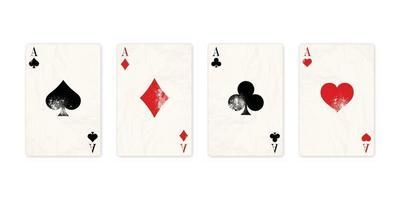 Vintage Classic four aces vector