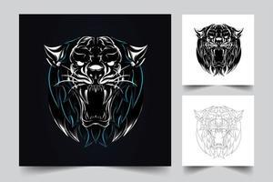 tiger angry artwork vector