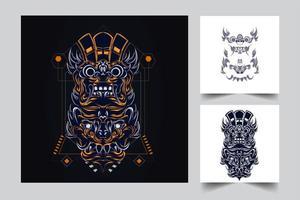 culture balinese indonesian artwork vector
