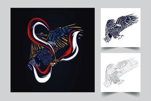 garuda indonesian artwork vector