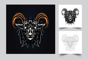 goat artwork illustration vector