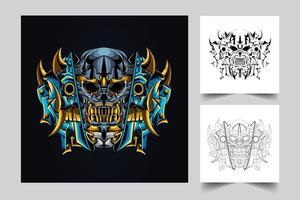 mecha skull artwork
