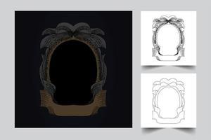ornament frame artwork illustration vector