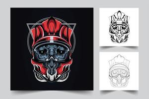 helmet satan artwork illustration vector