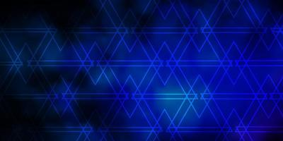 Dark Pink, Blue vector pattern with lines, triangles.