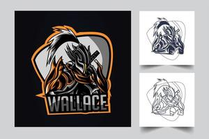 wallace esport artwork illustration vector