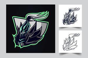guerrero ninja esport ilustraciones ilustración vector