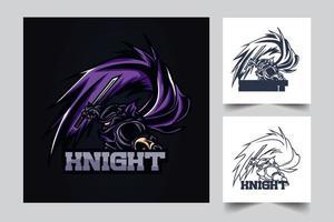knight esport artwork illustration vector