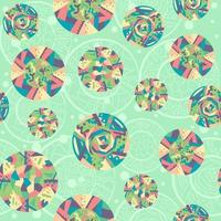 Abstract seamless pattern with colorful bohemian-indian motifs vector