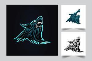 wolf artwork illustration vector