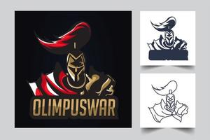 ilustración de ilustraciones de esport guerrero vector