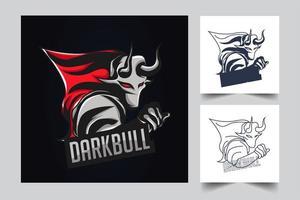 dark bull artwork illustration vector