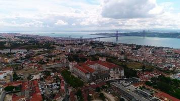 vista superior do centro da cidade de lisboa video