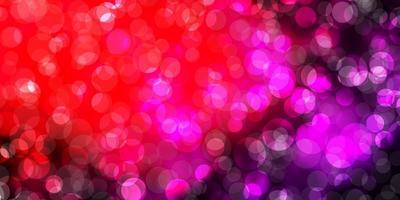 diseño vectorial de color rosa oscuro, amarillo con formas circulares. vector