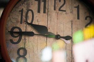 viejo reloj retro foto