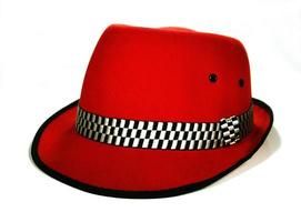 sombrero fedora rojo