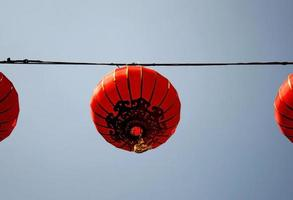 linterna china roja