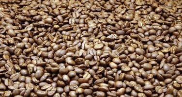 Roasted coffee bean pile