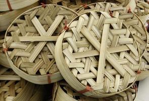 cestas de pesca tejidas foto