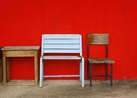 Old rustic furniture