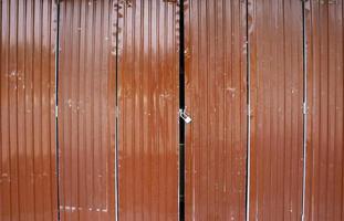 Brown metal doors
