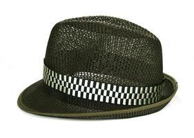sombrero fedora de malla
