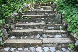 Stone stairs outside photo