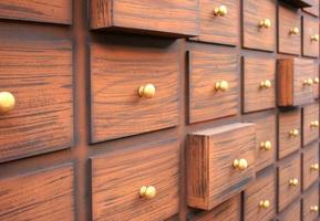 Close-up of drawers photo