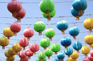Colorful lanterns in the sky