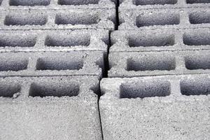 Gray concrete blocks