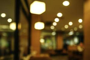 Blurry dark restaurant background