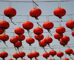 Red string lanterns