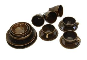 Brown ceramic dishes