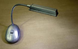 Gray desk lamp
