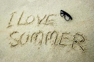 I love summer in sand
