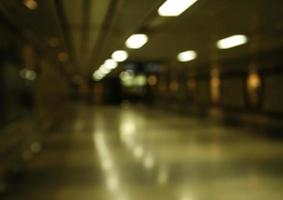 Blurred hallway background photo