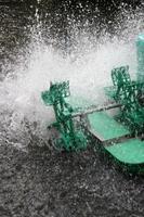 Water splashing from machine