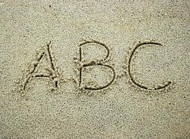 ABC in sand photo