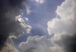 Dramatic clouds in sky photo