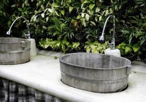 Two outdoor sinks