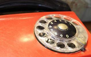 Old vintage telephone photo