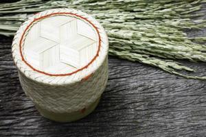 Bamboo wooden rice box