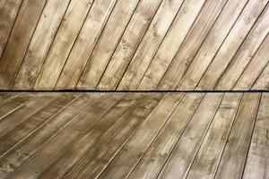 piso y pared de madera foto